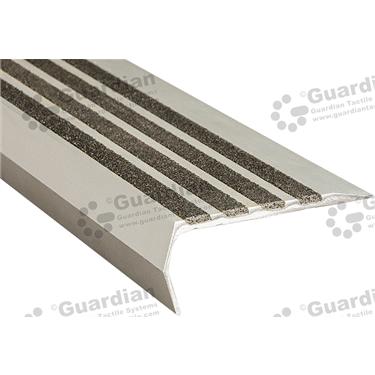 Bullnose Ramp Back Nosing - 4x Infill 37x83mm - Black [GSN-02BR4-BK]