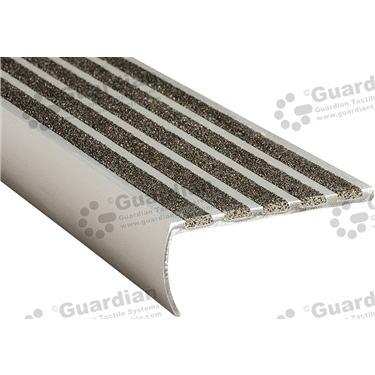 Product photo: Bullnose Recessed Nosing - 5x Infill 37x80x5mm - Black [GSN-02BS5-BK]
