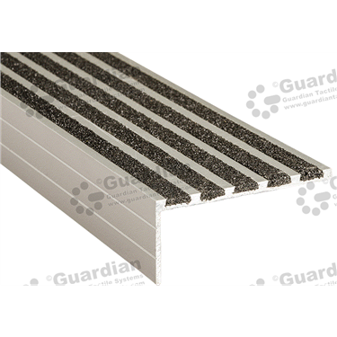 Product photo: Squarenose Recessed Nosing - 5x Infill 37x75x5mm - Black [GSN-02SN5-BK]