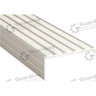 Product photo: Squarenose Recessed Nosing - 5x Infill 37x75x5mm - Ivory (White) [GSN-02SN5-IV]