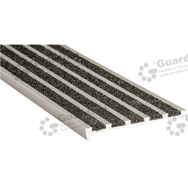Product photo: Slimline Recessed Nosing - 5x Infill 10x75x5mm - Black [GSN-02SS5-BK]