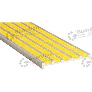 Product photo: Slimline Recessed Nosing - 5x Infill 10x75x5mm - Yellow [GSN-02SS5-YL]
