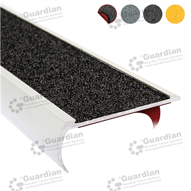 Aluminium Bullnose - Black Carbide with D/S Tape [GSN-BNR-CBK-DST]
