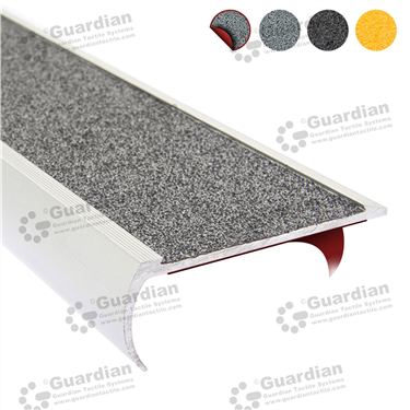 Product photo: Aluminium Bullnose - Medium Grey Carbide with D/S Tape [GSN-BNR-CMG-DST]