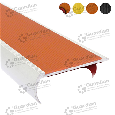 Product photo: Aluminium Bullnose - Terracotta Polyurethane with D/S Tape [GSN-BNT-PTR-DST]