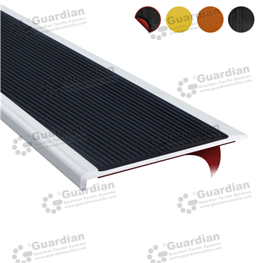 Product photo: Aluminium Slimline - Black Polyurethane with D/S Tape [GSN-SLR-PBK-DST]