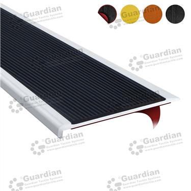 Aluminium Slimline - Black Polyurethane with D/S Tape [GSN-SLR-PBK-DST]