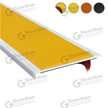Product photo: Aluminium Slimline - Yellow Polyurethane with D/S Tape [GSN-SLR-PYL-DST]