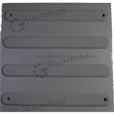 Product photo: Directional Tactile (Mechanically Fixed) 300x300 - Medium Grey [GTS3DSF-MG]