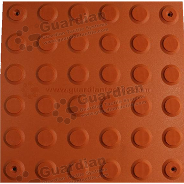Product photo: Warning Tactile (Mechanically Fixed) 300x300 - Terracotta [GTS3WSF-TR]