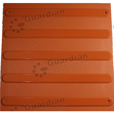 Product photo: Directional Tactile (Mechanically Fixed) 400x400 - Terracotta [GTS4DSF-TR]
