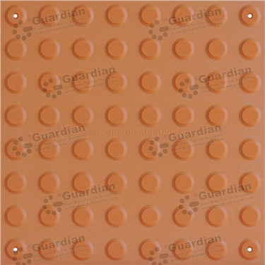 Product photo: Warning Tactile (Mechanically Fixed) 400x400 - Terracotta [GTS4WSF-TR]